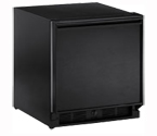 U-Line 29RB-15 3.3 cf Built-in Refrigerator w/Lock - Black Cabinet with Black Door - Left Hinge