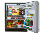 Marvel 61AR-BS-F Built-in All Refrigerator with Monochromatic Black Cabinet & Stainless Steel Door