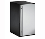 U-Line ADA15IMS-00A Crescent Ice Maker Model - Black Cabinet with Stainless Steel Door