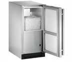 U-Line BI2115SOD-00 Outdoor Ice Maker - Stainless Steel Cabinet with Stainless Steel Door - Right-Hand Hinge