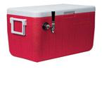Micromatic CB481R - 48Qt. Single Faucet Jockey Box - Red