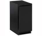 U-Line CLR1215B-40A Echelon Clear Ice Maker - Black Cabinet with Black Door - Drain Pump