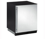 U-Line 1000 Series CO1175S-00 Ice Maker/Refrigerator - Black Cabinet with Stainless Steel Door - Right Hinge