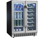 Scratch & Dent- Danby DBC7070BLSST French Door Dual Zone Beverage Center