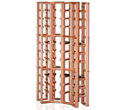 Redrack Curved Corner 48 Bottle Redwood Modular Wine Rack