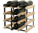 Bordex 12 Bottle Wine Rack - Natural Finish