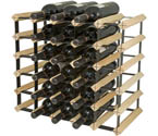 Bordex 30 Bottle Wine Rack - Natural Finish