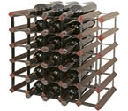 Bordex 30 Bottle Wine Rack - Cherry Finish