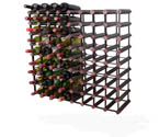 Bordex 72 Bottle Wine Rack - Cherry Finish