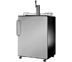 Open Box Return - Summit SBC490SSTB Full-Size Kegerator - Elegant Black Cabinet with Gorgeous Stainless Steel Door and Curved Stainless Steel Towel Bar Handle