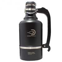 The Juggernaut - 128 oz Vacuum Insulated Beer Growler - Matte Black
