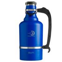 The Juggernaut - 128 oz Vacuum Insulated Beer Growler - Matte Blue