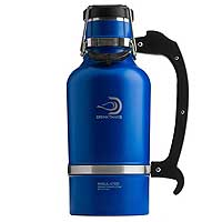 The Classic - 64 oz Vacuum Insulated Beer Growler - Matte Blue