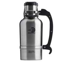 The Classic - 64 oz Vacuum Insulated Beer Growler - Brushed Stainless Steel