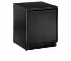 U-Line COMBO 29 BL 2.1 cf. Refrigerator/Ice Maker Combo with Manual Defrost - Black Cabinet with Black Door