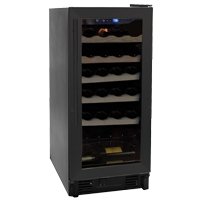 26 Bottle Black Built-in Wine Refrigerator