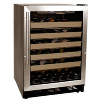 50 Bottle Stainless Steel Built-in Wine Refrigerator