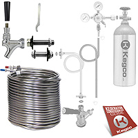 Build Your Own 120' Coil Jockey Box Conversion Kit - Right Faucet Mount