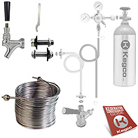 Build Your Own 50' Jockey Box Portable Coil Conversion Kit - Right Faucet Mount