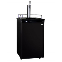 Home Brew Kegerator with Black Cabinet and Black Door