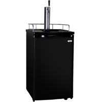 Full-Size Keg Beer Dispenser with Black Cabinet and Black Door