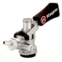 Inventory Reduction - D System Ergonomic Keg Coupler with Lever Handle and Stainless Steel Probe