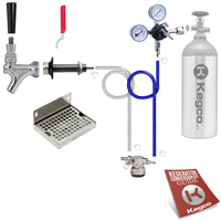 Low Profile Deluxe Door Mount Kegerator Kit
