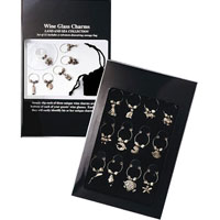 Land & Sea Wine Glass Charms Collection Set - Black Box
