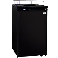 Kegerator Cabinet Only - Black Cabinet and Door
