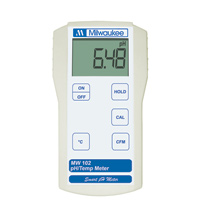 Milwaukee MW102 pH/Temperature Meter