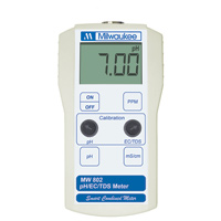 Milwaukee MW802 pH/EC/TDS Combo Meter (0-4000ppm)