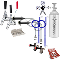 Premium Two Faucet Door Mount Kegerator Keg Tap Conversion Kit - All SS Contact