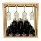 Allavino Pronto 12 Bottle Wine Rack Pine Lattice Stackable Stemware Cube PRL3012S
