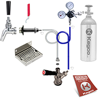 Premium Door Mount Kegerator Keg Tap Conversion Kit - 100% Stainless Beer Contact