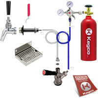 Kegco Premium Door Mount Kegerator Kit with 5 lb. CO2 Tank PSCK-5T - Kegco.com & Marketplace
