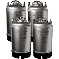 Home Brew Beer Kegs - Ball Lock 3 Gallon Strap Handle - Set of 4