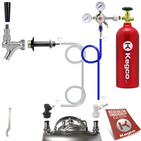 Standard Homebrew Kegerator Conversion Kit with 5 lb. Co2 Tank EBSHCK-5T - Kegco.com & Marketplace