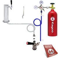 Kegco Standard Tower Kegerator Kit with 5 lb. Tank STCK-5T - Kegco.com & Marketplace