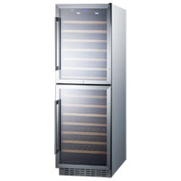 118 Bottle Dual Zone Wine Refrigerator - All Stainless Steel