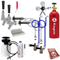 Kegco Ultimate Door Mount Kegerator 2 Tap Conversion Kit w/ Tank EBUCK2-5T - Kegco.com & Marketplace