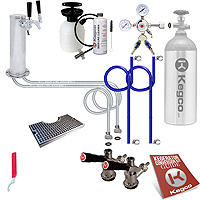 Ultimate Two Faucet Tower Kegerator Conversion Kit