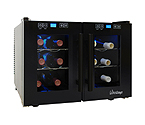 Vinotemp VT-12TEDTS-2Z 12-Bottle Dual-Zone Thermoelectric Wine Cooler