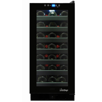 33-Bottle Built-In Touch Screen Wine Cooler - Black Cabinet w/ Black Door