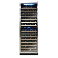 Vinotemp VT-188-BBW 160-Bottle Dual Zone Wine Refrigerator in Black