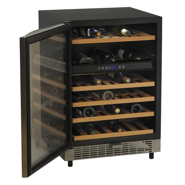 49-Bottle Built-In Single Zone Wine Chiller