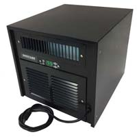 Wine Cooling Unit (265 Cu.Ft. Capacity) with Stainless Steel Base and Jet Black Finish