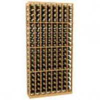 8 Column Wood Wine Rack
