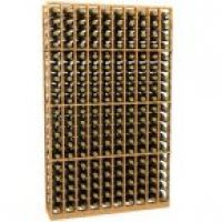 10 Column Wood Wine Rack
