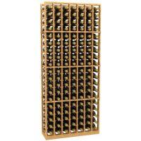 7 Column Wood Wine Rack