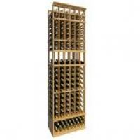 8' Six Column Display Wood Wine Rack